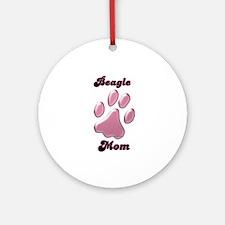 Beagle Mom3 Ornament (Round)