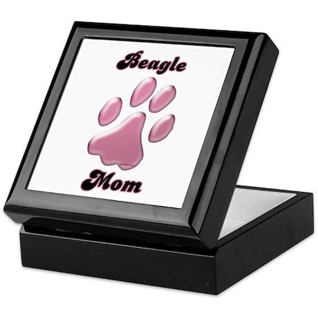 Beagle Mom3 Keepsake Box