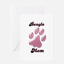 Beagle Mom3 Greeting Card
