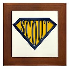 SuperScout(Gold/Blue) Framed Tile