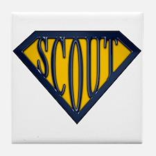 SuperScout(Gold/Blue) Tile Coaster