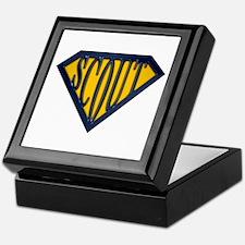SuperScout(Gold/Blue) Keepsake Box
