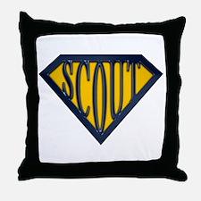 SuperScout(Gold/Blue) Throw Pillow