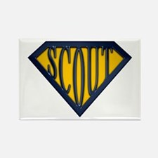 SuperScout(Gold/Blue) Rectangle Magnet