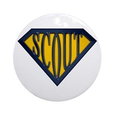 SuperScout(Gold/Blue) Ornament (Round)