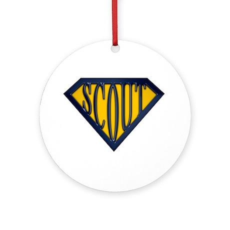 SuperScout(Gold/Blue) Ornament (Round)