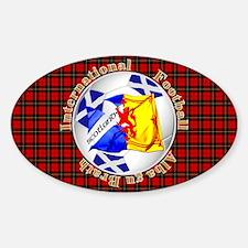 Scotland red tartan football Decal