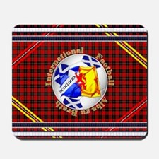 Scotland red tartan football Mousepad