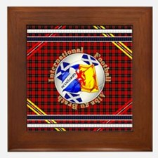 Scotland red tartan football Framed Tile