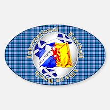 Scotland blue tartan football Decal