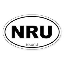 Nauru Oval Decal