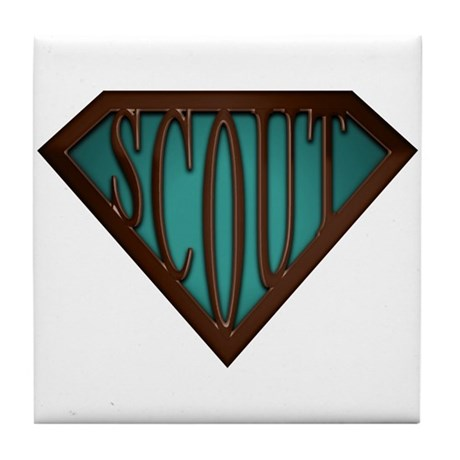 SuperScout(Green) Tile Coaster
