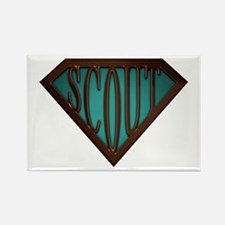 SuperScout(Green) Rectangle Magnet