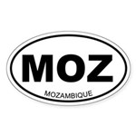 Mozambique Oval Sticker