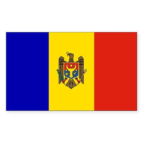 Moldova Rectangle Sticker