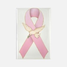 Breast Cancer Ribbon 3 Rectangle Magnet (10 pack)