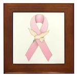 Breast Cancer Ribbon 3 Framed Tile