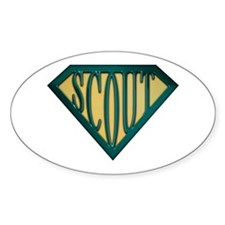 SuperScout(Tan) Oval Decal