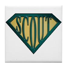 SuperScout(Tan) Tile Coaster