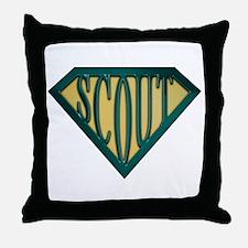 SuperScout(Tan) Throw Pillow
