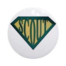 SuperScout(Tan) Ornament (Round)