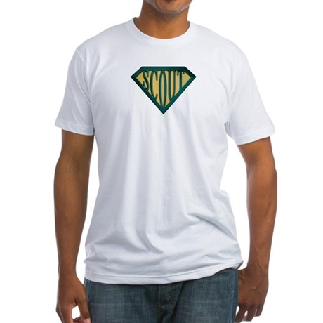 SuperScout(Tan) Fitted T-Shirt