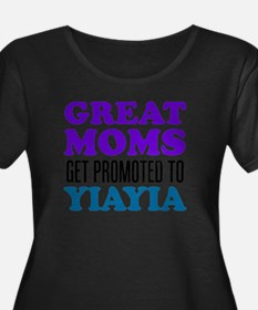Great Moms Promoted YiaYia Plus Size T-Shirt