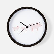 Little Pigs Wall Clock