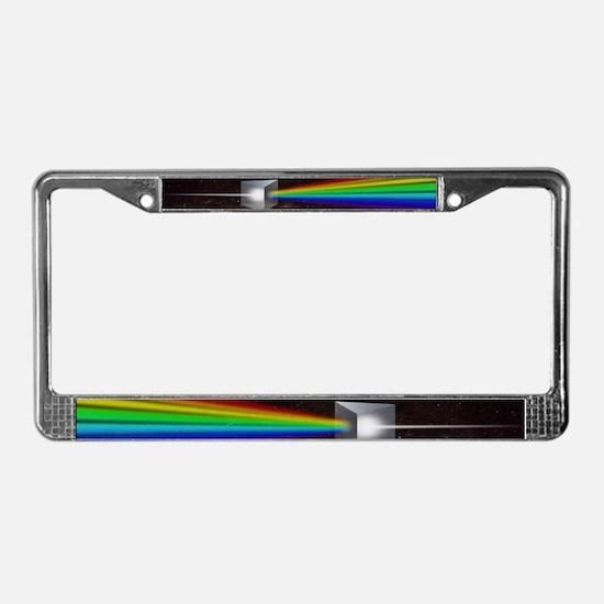 Space Prism Rainbow Spectrum License Plate Frame