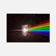 Space Prism Rainbow Spectrum Rectangle Magnet