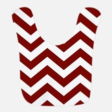 Chevron Zig Zag Pattern: Maroon (Dark Red) Bib