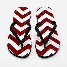Chevron Zig Zag Pattern: Maroon (Dark R Flip Flops