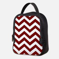 Chevron Zig Zag Pattern: Maroon Neoprene Lunch Bag
