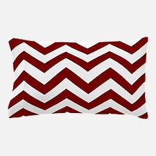 Chevron Zig Zag Pattern: Maroon (Dark Pillow Case