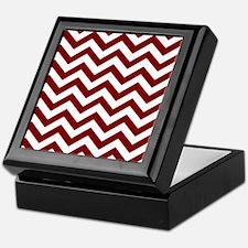 Chevron Zig Zag Pattern: Maroon (Dark Keepsake Box