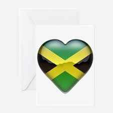 Jamaica Heart Greeting Card