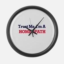 Trust me, I'm a Homeopath Large Wall Clock