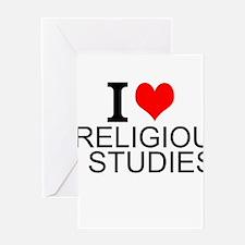 I Love Religious Studies Greeting Cards