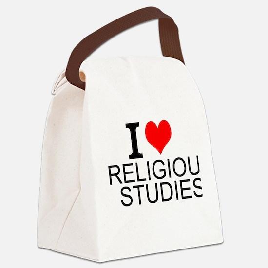 I Love Religious Studies Canvas Lunch Bag