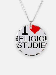 I Love Religious Studies Necklace