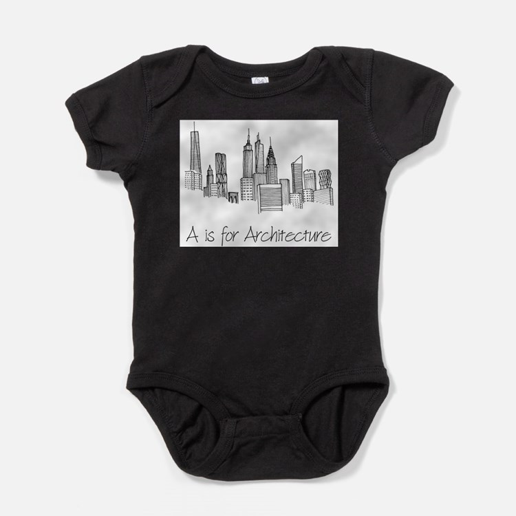 Cute Skyscrapers Baby Bodysuit