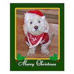 Christmas Dog Small Poster
