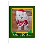 Christmas Dog Large Poster