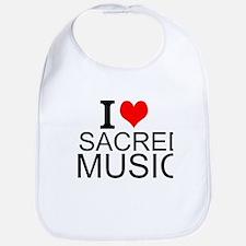 I Love Sacred Music Bib
