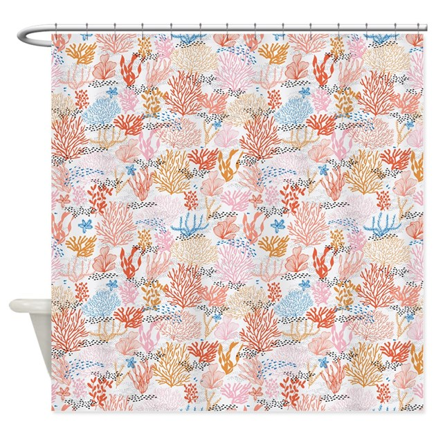 Coral reef shower curtain by admin cp79210469 for Coral reef bathroom decor