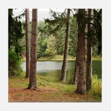 Pond in the Forest Tile Coaster