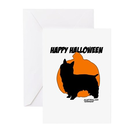 Australian Terrier Halloween Greeting Cards (Pk of