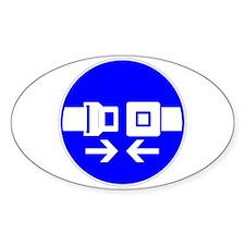 Seatbelt Oval Decal