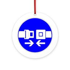 Seatbelt Ornament (Round)