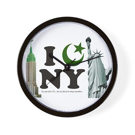 New York City under Islam Wall Clock